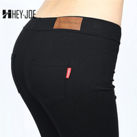 HEYJOE 2017 S-XL Pants Women Low Waist Leggings Push Up Sexy Hip Solid Trousers For Women Fashion Elastic Pants Adventure Time