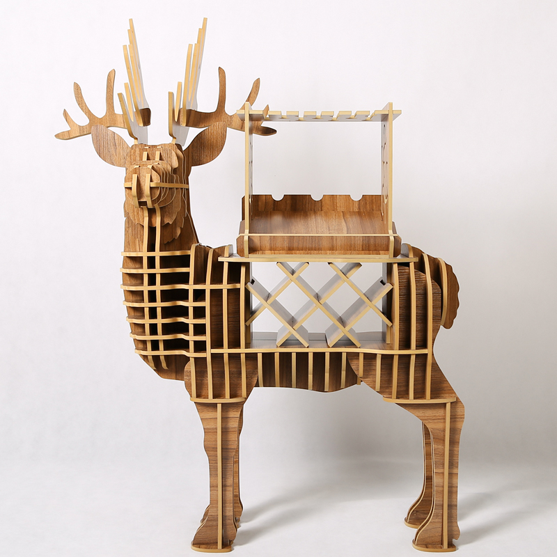 Wood craft deer desk deer coffee table wooden home for Wooden home furnichers