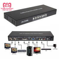 CVBS/VGA/DVI/HDMI конвертер SDI AV Сингал 2 Порты и разъёмы 3g SDI Video Splitter Scaler конвертер с США/ЕС DC Мощность адаптер