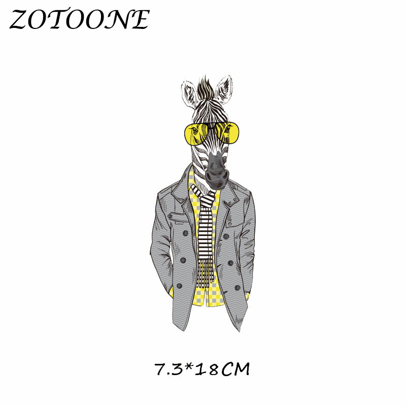 ZOTOONE Patches for Clothing Animal Patch Heat Transfer DIY Accessory Decoration Iron on Patch Beaded Applique Clothes T Shirt