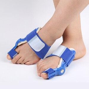 Image 5 - Dobrej jakości duży przyrząd do prostowania palców u nóg zespół cieśni kanału nadgarstka palucha koślawego korektor dzień szyna na noc ulgę w bólu nylon bluk