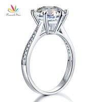 Solid 925 Sterling Silver Wedding Engagement Ring 3 Carat Created Diamond Jewelry Free Shipping CFR8009