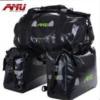 AMU Motorcycle waterproof Saddlebags Waterproof tank bag Racing Riding Motor Helmet Bags Oil Travel Luggage rear seat bags