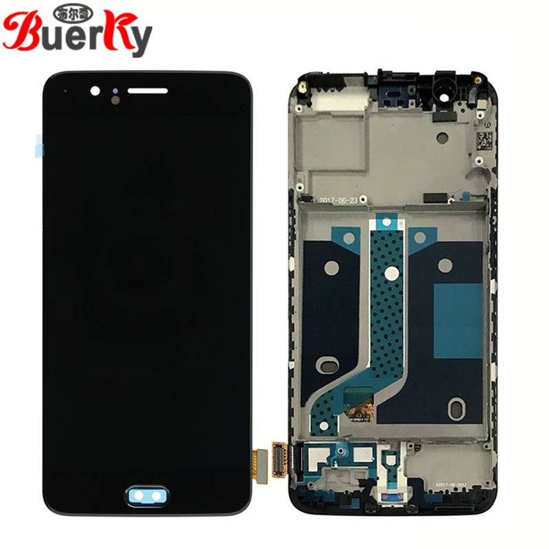 BKparts 5.5 For Oneplus 5 A5000 LCD Display Touch Screen Glass Digitizer For One Plus Five 1+5 LCD Complete Assembly