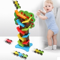 montessori wooden puzzle inertia speed educational toys Track Toys baby math toys learning game fun brinquedos baby toy gift