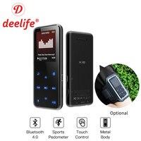 Deelife MP3 Player Bluetooth HiFi Music Mini Metal MP 3 With Speaker Touch Screen FM Radio USB FLAC Audio Running Walkman Sport