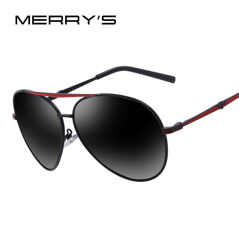MERRY'S Fashion Men Polarized Sunglasses Brand Design Sunglasses Blue Mirror Lens Oculos de sol UV400