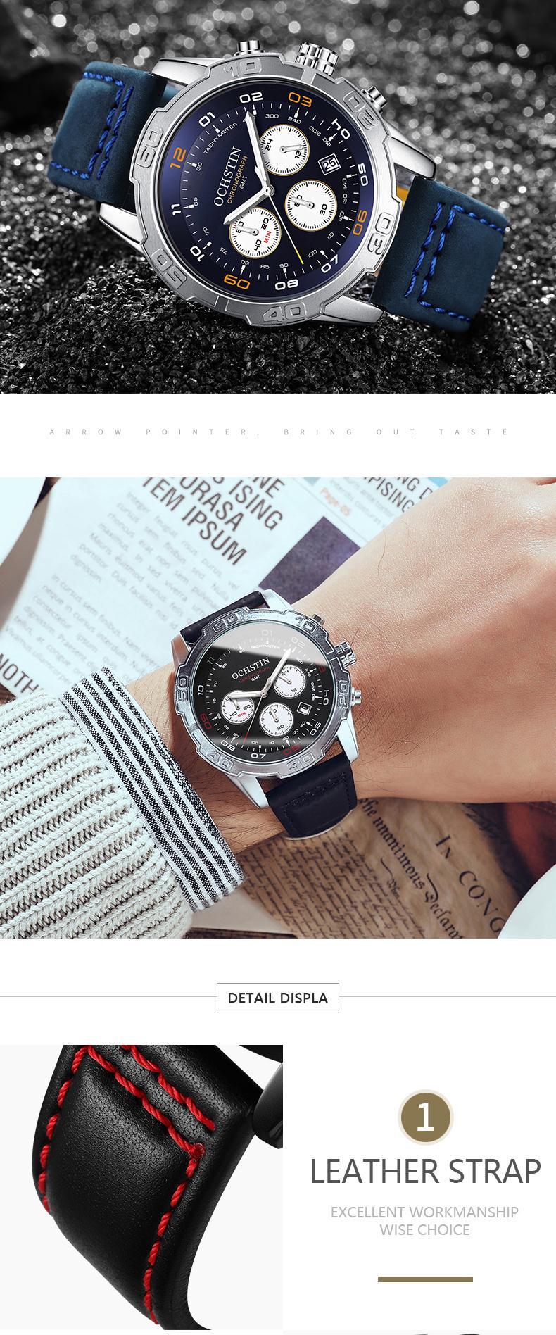 Relógio de Quartzo Mens Relógios Top Marca