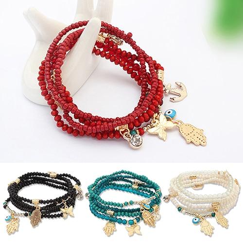 Wholesale 20pcs Fatima Main charms antique argent or Fit À faire soi-même Bracelet necklack
