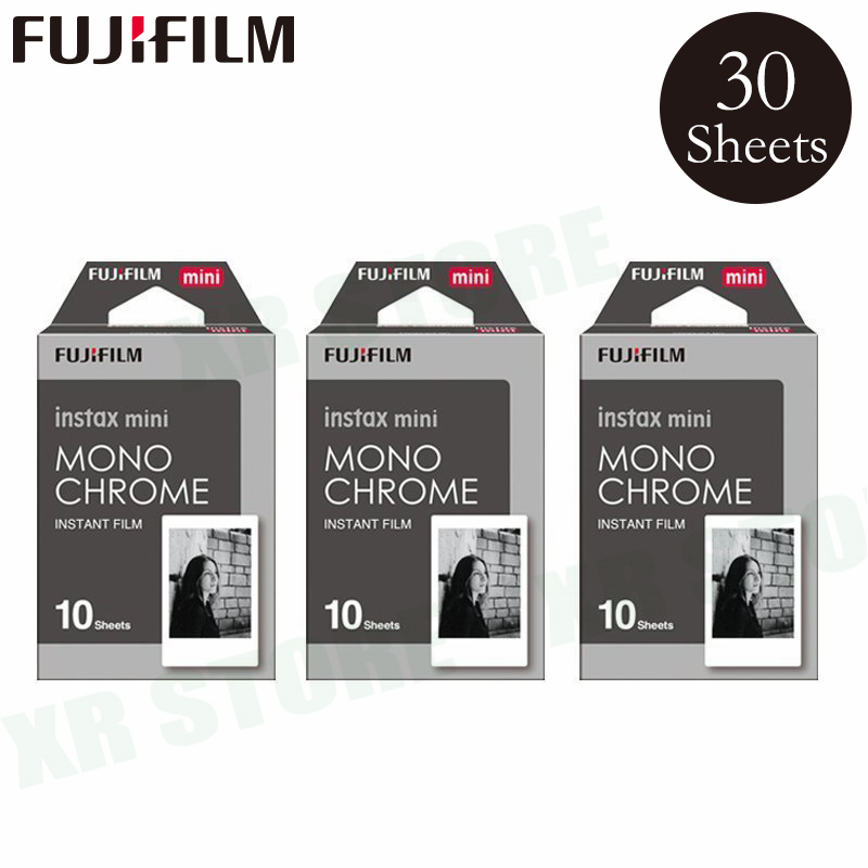 Fujifilm Instax Mini 8 9 Film MONO CHROME Fuji Instant Photo Paper 30 Sheets For 70 7s 50s 50i 90 25 Share SP-1 2 Camera