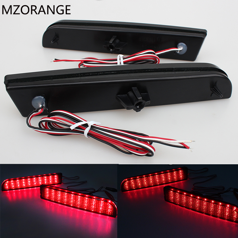 2008-14 LED Bumper Reflector Smoked Lens Tail Brake Light For Mitsubishi Lancer EVO Evolution X CZ4A Outlander Sport RVR ASX