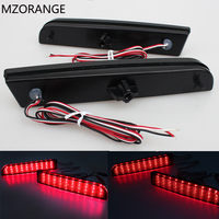 2008 14 LED Bumper Reflector Smoked Lens Tail Brake Light For Mitsubishi Lancer EVO Evolution X