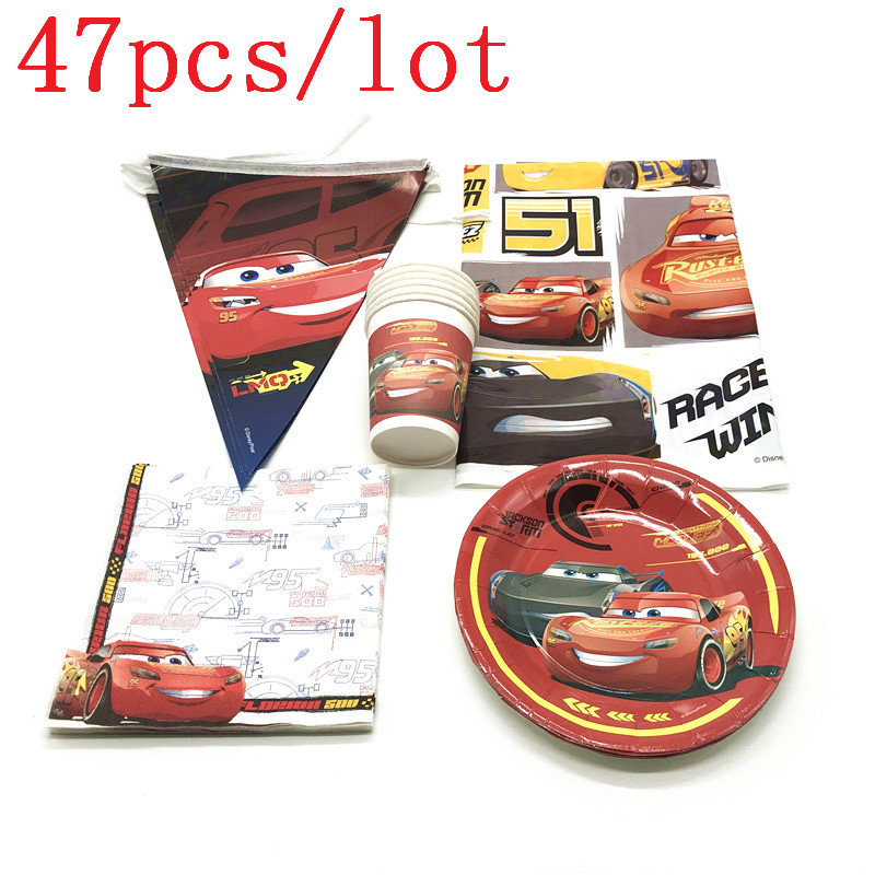 Authorized Disney Cars 47Pcs Cup+Plate+Banner Event Party McQueen Tableware Boy Birthday Napkin Tablecloth Decoration SupplyAuthorized Disney Cars 47Pcs Cup+Plate+Banner Event Party McQueen Tableware Boy Birthday Napkin Tablecloth Decoration Supply