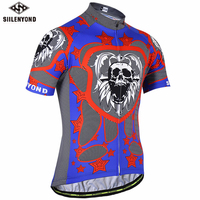 SIILENYOND Summer Breathable Cycling Jersey Men Short Sleeve Cycling Clothing Bicycle Clothes Bike Wear Shirts Maillot