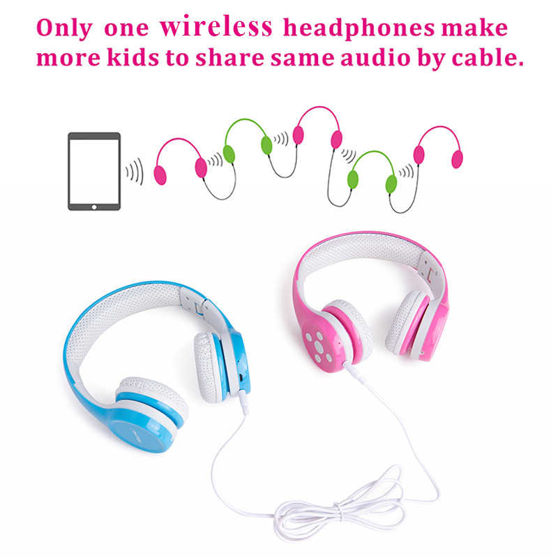 ca1391bb17c ... Hisonic Wireless Headphones for Kids Handsfree Noise Cancelling Protect  the ear Foldable Wire with Microphone bs
