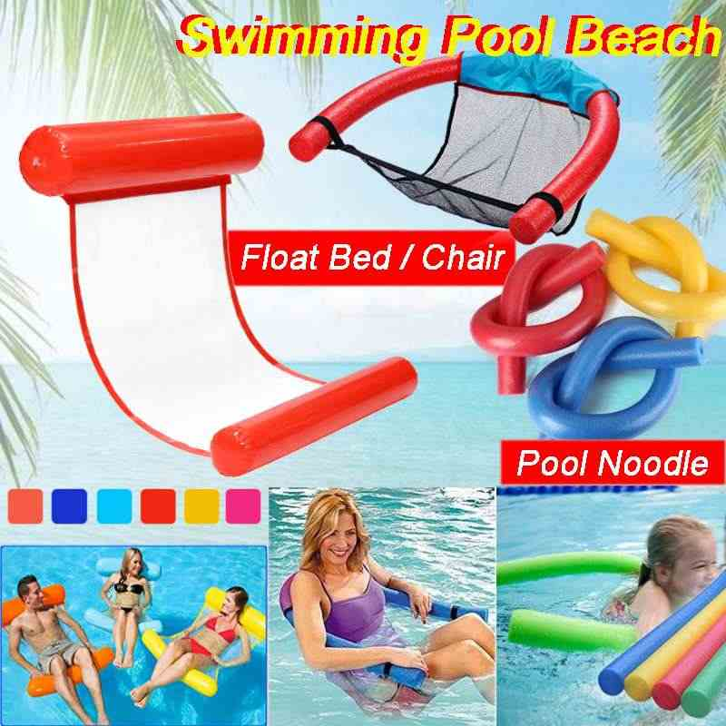 Inflatable Floating Bed Floating Pool Noodle Foam Sling Mesh Float Chair Net Swimming Pool Party Kids Bed Seat Mat Relaxation