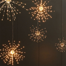 200 LED Solar Lamp Copper Wire Panel Powered 40 Branch Starburst String Light Fairy DIY Firework Xmas Explosion Wedding