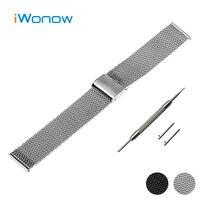Milanese Mesh Stainless Steel Watch Band 18mm 20mm 22mm Universal Watchband Hook Buckle Strap Wrist Belt