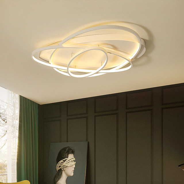 Oval Arts Ceiling lights for living room bedroom master room white or coffee finish modern led ceiling lamp fixtures