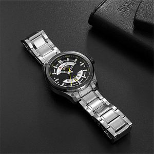 Image 5 - CURREN Watches Mens Stainless Steel Quartz Wristwatch With Calendar Casual Business Male Clock 30M Waterproof Relogio Masculino