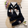 New Chidren Kids Boys Clothing Autumn Winter Fashion 3 Piece Sets Hooded Coats Suits Fall Cotton Baby Boy Clothes V-0506