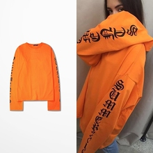 2016 Summer Ulzzang Vintage Harajuku Gothic letters OVERSIZE with long sleeve T-shirt for men and women Freeshipping dmy0468