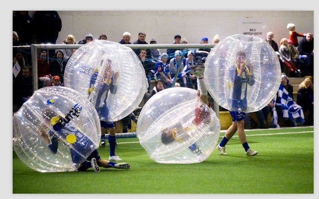 Crazy sports inflatable human sized bubble soccer ball