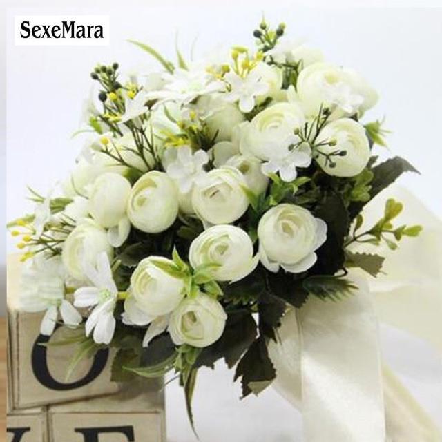 Foam Flowers Rose Bridal Bouquet