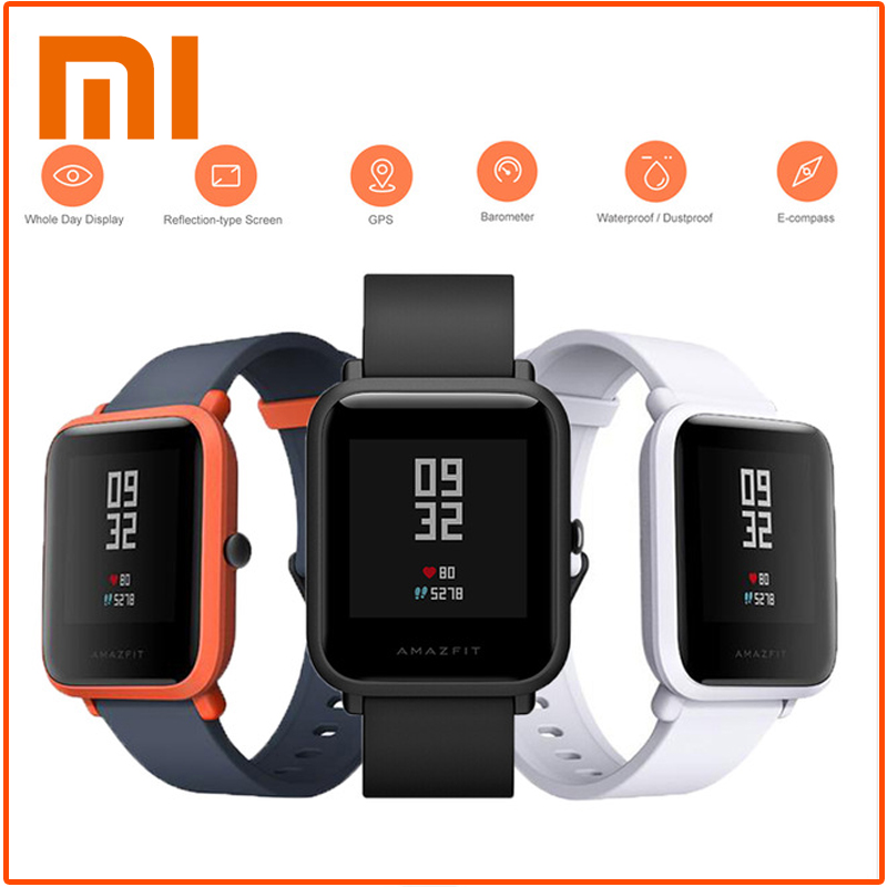Xiaomi Amazfit Bip Smart Watch [English Version] Huami GPS Smartwatch Android iOS IP68 45 Days Battery Life smart watch men english ver xiaomi huami amazfit bip lite version smart watch bluetooth 4 0 gps heart rate ip68 sport smartwatch 45 day standby