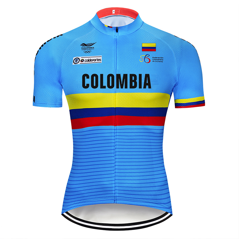 Image 5 - Crossrider 2019 Blue Colombia Cycling Jerseys Set MTB Shirt Bike Clothing Breathable Bicycle Clothes Men's Short Maillot Culotte-in Cycling Sets from Sports & Entertainment