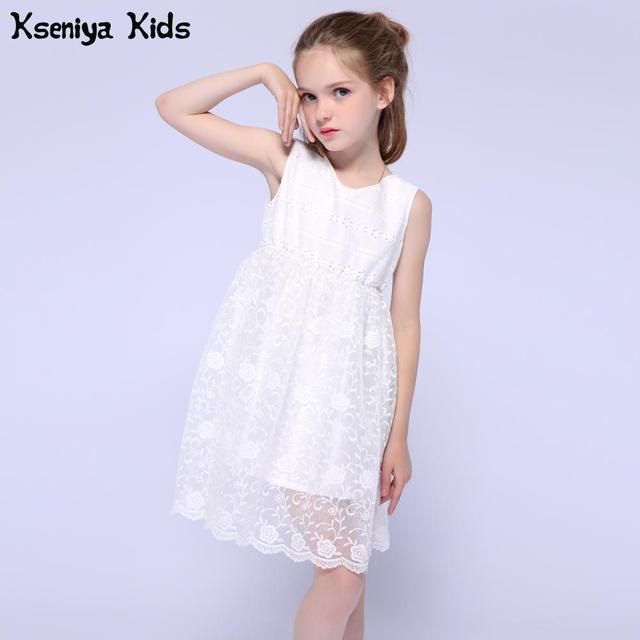 6dcb50a33 Kseniya Kids White Princess Lace Dress Girl Girls Dresses For Party ...