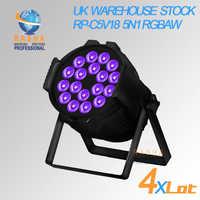UK STOCK Hex 18*15 W 5IN1 RGBAW di Alluminio HA CONDOTTO LA Luce Par LED Par Proiettore di Illuminazione Della Fase Della Discoteca Evento partito NO TASSA di IMPORTAZIONE