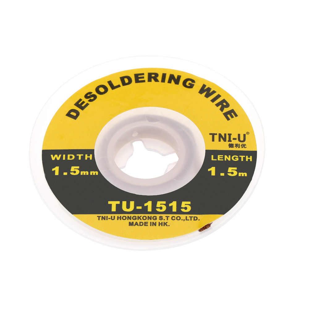 TU-1515 1.5mm Soldeer Lont Precisie Desolderen Draad Accessoires Gevlochten Handige Solderen Lont Professionele Lassen Draden