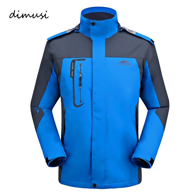 Dimusi Новая повседневная куртка мужская Демисезонный армии Водонепроницаемый ветровка Куртки Мужская дышащая УФ-Защита пальто 5XL, ya635