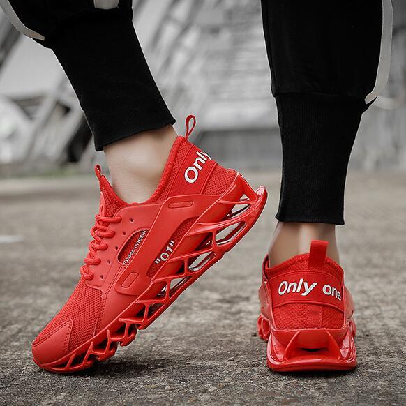 2019 nouveauté Blade Sole hommes baskets Flyknit supérieur respirant confortable Zapatos Para Correr chaussures hommes chaussures décontractées