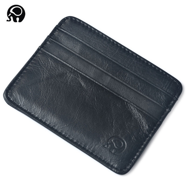 men Wallet Business Card Holder bank cardholder leather cow pickup package bus card holder Slim leather multi-card-bit pack bag 4