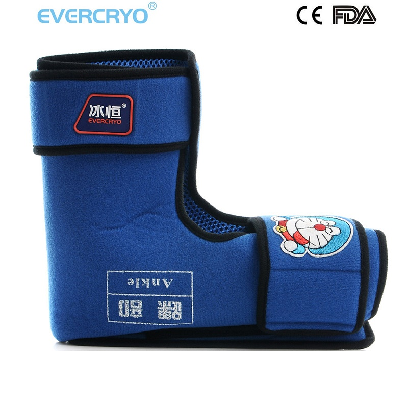 FDA Approved Medical cold therapy Pediatric Use Adjustable Neoprene Hand Wrist Knee Ankle Support Child Cold Wraps evercryo inflatable air pump adjustable ankle brace medical ankle cold compression wrap