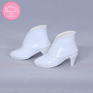 Image 3 - Shoes For Doll BJD leather shoes Toy Mini Doll Shoes 1/3  For switch BJD Dolls WX3 46 black /45 white 3 colors Doll Accessories