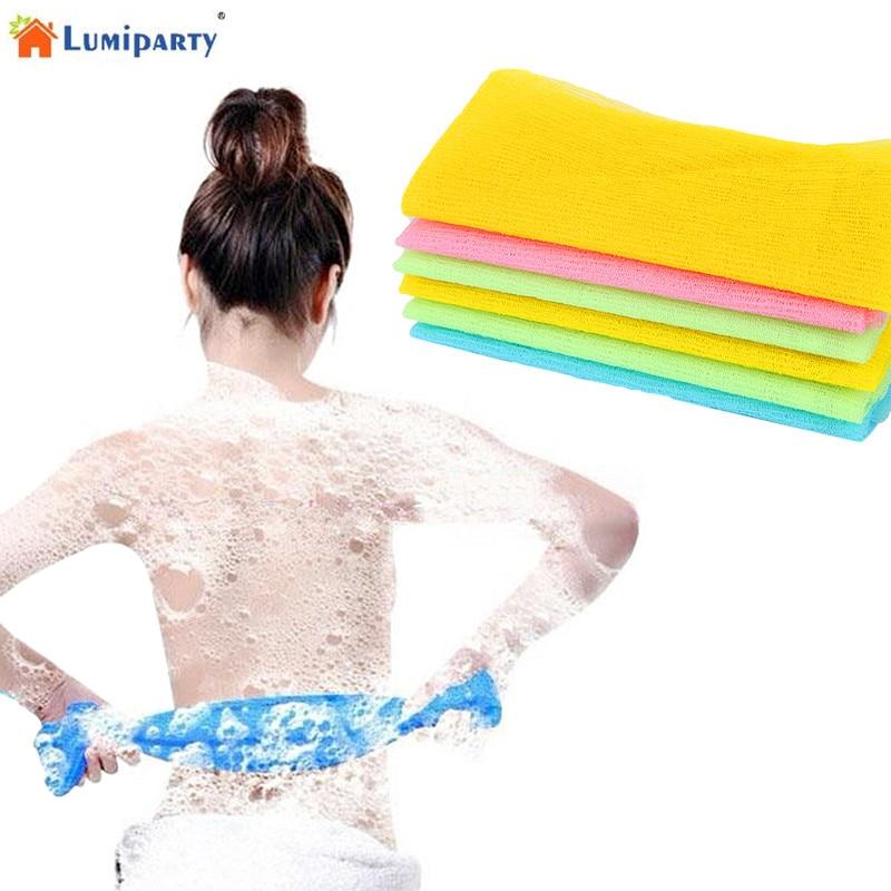 LumiParty Long Rubbing Back Nylon Foam Towel Lengthening Bath Towel Rubbing Towel Soft Bath Towel-25