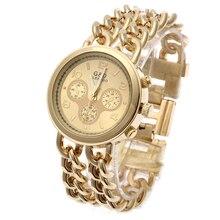 Relogio Feminino Gold G&D Women Analog Quatz Wristwatches Stainless Steel Fashion Watch Reloj Mujer Womens Top Brand Luxury Gift