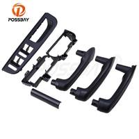 POSSBAY 6 Pcs Black Interior Door Grab Handle Cover Bracket Bezel Panel Trim for VW Golf IV 4 GTI/R32/Variant Left Side Part