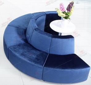 Луи Мода отель диваны бутик офисная мебель круглый Творческий ткань или из искусственной кожи искусство диван сочетание - Цвет: B Style 1 piece