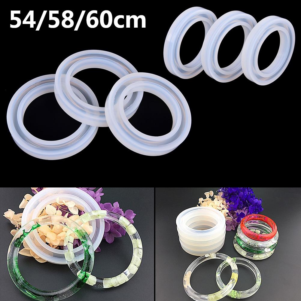 1 Pcs Hand Resin Craft Jewelry Making Mold Soft Silicone Jewerly Mould Epoxy Bracelet Bangle Mold