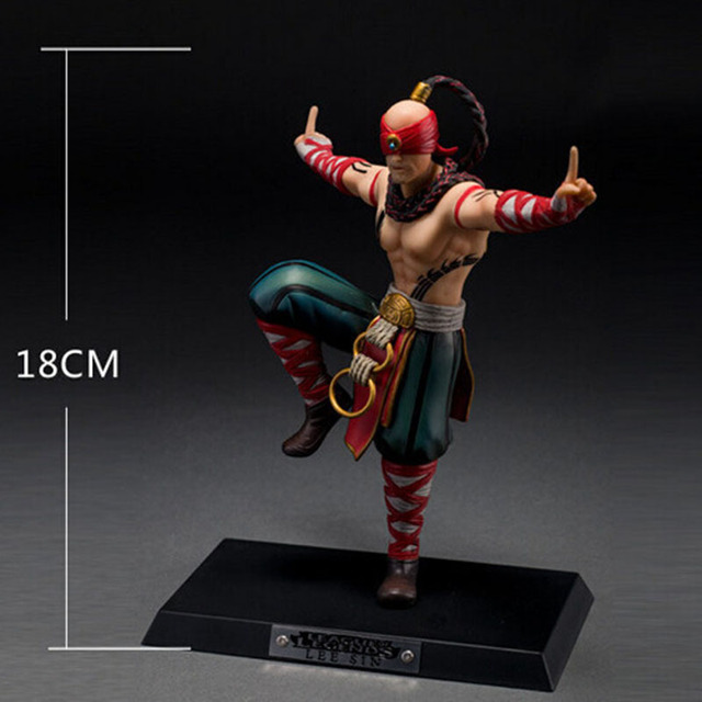 LOL League of Legends figure Action Game blind man LEE DIY Model Toy action-figure 3D Game Heros anime party decor Creative Gift