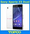 """Sony Xperia Z3 dupla original desbloqueado Quad core Android telefone móvel Sony D6633 WIFI GPS 3 G e 4 G 5.2 """" 20.7MP 16 GB ROM dropshipping"""