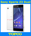 "Sony Xperia Z3 original Dual desbloqueado Quad core Android teléfono móvil Sony D6633 WIFI GPS 3 G y 4 G 5.2 "" 20.7MP 16 GB ROM dropshipping"