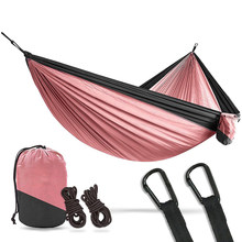 Acehmks Black Snap Portable Hammock Super Endurance Parachute Hammock Swing Garden For Adult Hammocks Furniture(China)