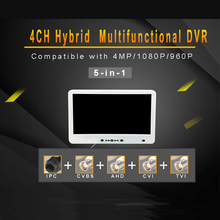 N_eye Professional NVR 4CH With LCD Video Recorder 4MP 5 1 LCD HVR IP Camera Video Recorder ONVIF CCTV Camera System