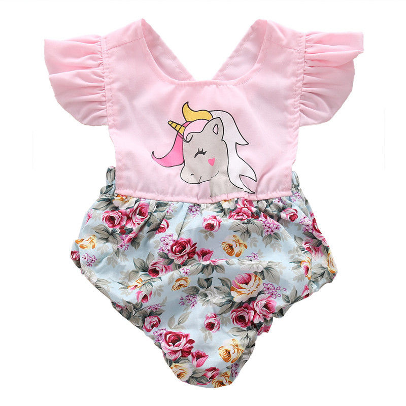 Aliexpress.com: Comprar Infant Baby Girl Floral Del Mameluco Mono ...