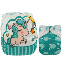 Reusable Diapers for Infants and Babies with Cute Cartoony Designs